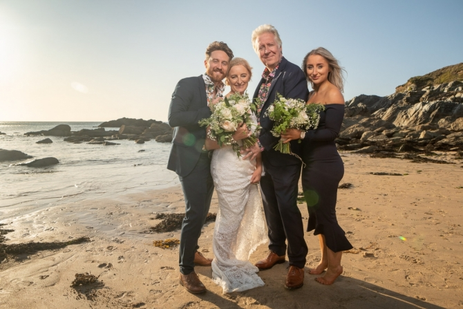 Headland Hotel Wedding Photographer - Louise & Duncan