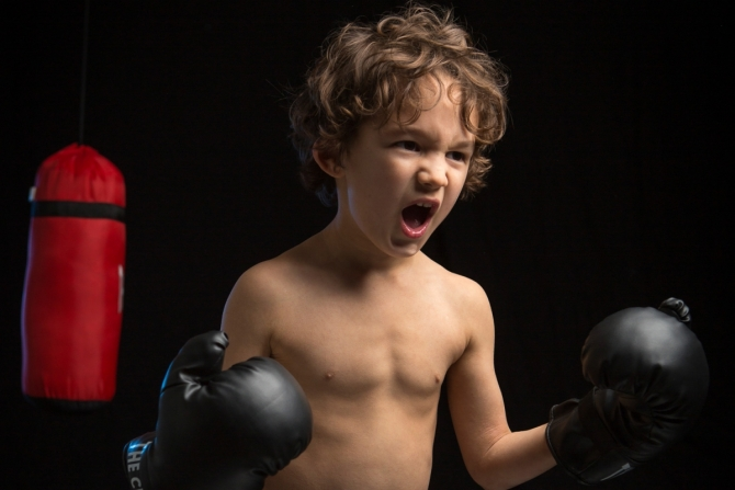 Portrait Photographer Cornwall - Boxing Boy